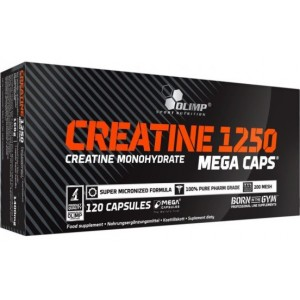 CREATINE 1250 MEGA CAPS 120 CAPS