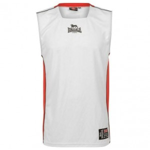 CAMISETA BASKET LONDSDALE WHITE-RED