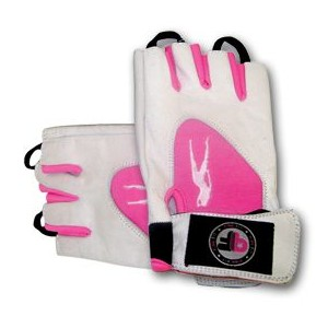 GUANTES PINK FIT BLANCO-ROSA