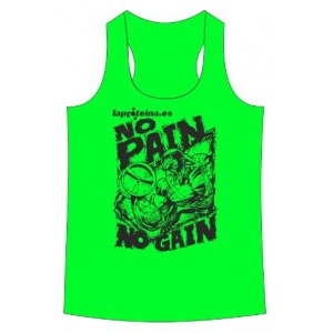CAMISETA NO PAIN NO GAIN VERDE FLUOR