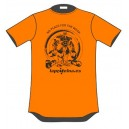 CAMISETA MANGA CORTA NO PLACE FOR THE WEAK NARANJA FLUOR