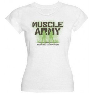 CAMISETA MUSCLE ARMY GIRL WHITE
