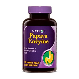 PAPAYA ENZYME 100 TABS MASTICABLES