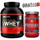 100% WHEY GOLD STANDARD 2,27 KG + AMINO X