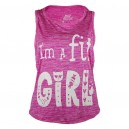 CAMISETA FIT GIRL ROSA ELASTIC-DRY